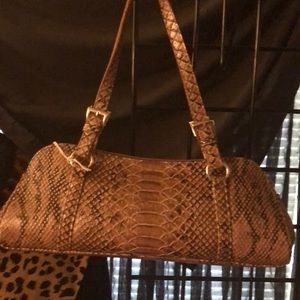 Faux Snakeskin bag